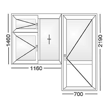 Продам окно с балконной дверью (тема закрыта) - щитниково, с.