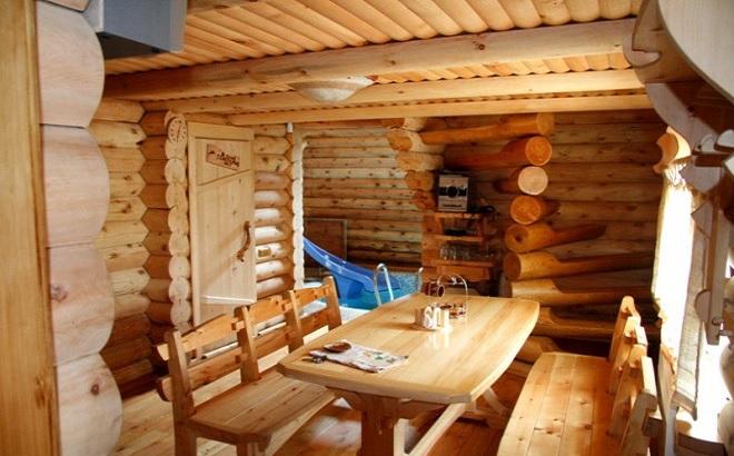 Интерьеры деревянных домов из бревна