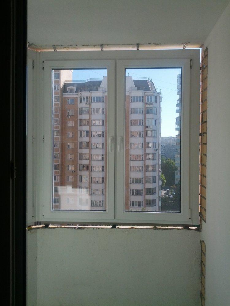 Пластиковые окна п44т лоджия.